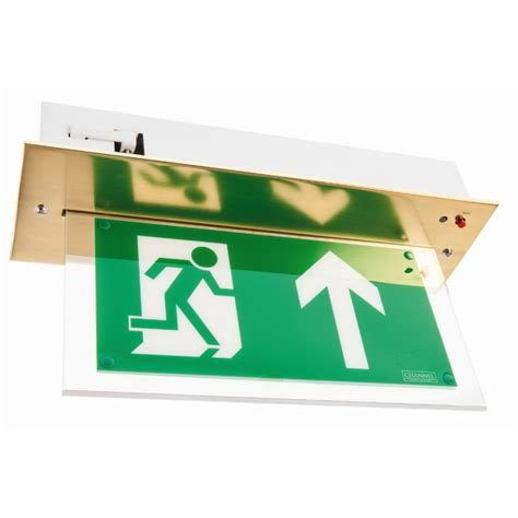 Hanelle Exit channel vale brass maintained led emergency exit sign