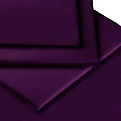 Purple Valance Sheet aubergine purple colour percale mattress fitted valance sheet