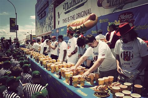 nathans famous hot dog eating contest nathan s famous international hot dog eating contest