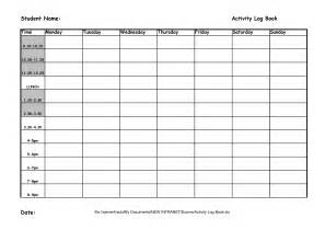 best photos of weekly activity log template daily log