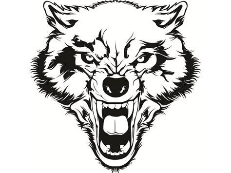 wolf 2 growling wild animal dog mascot tattoo logo svg eps