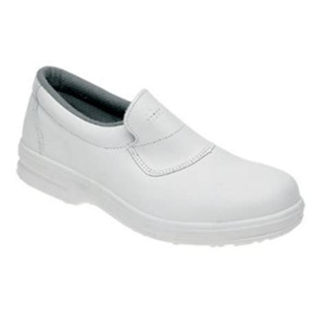 toesavers white leather casual safety shoe code 3454