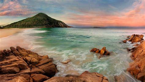 sunset  australian beach hd wallpaper background