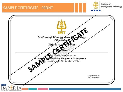 Imt Ghaziabad Mba Admission Eligibility by Executive Post Graduate Program In Management Batch 06