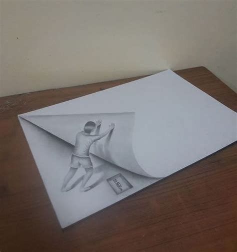 How To Make 3d Sketch On Paper - 17 best ideas about things to draw on how