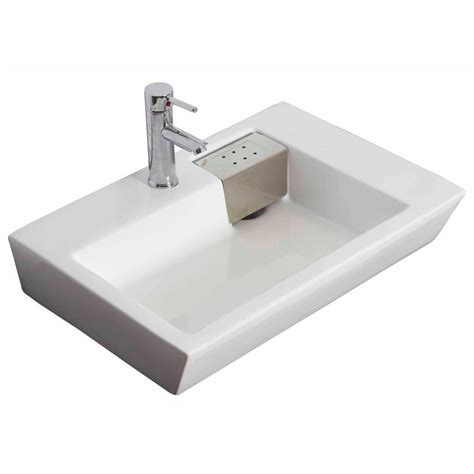 white rectangular vessel sink imaginations 26 inch w x 18 inch d rectangular