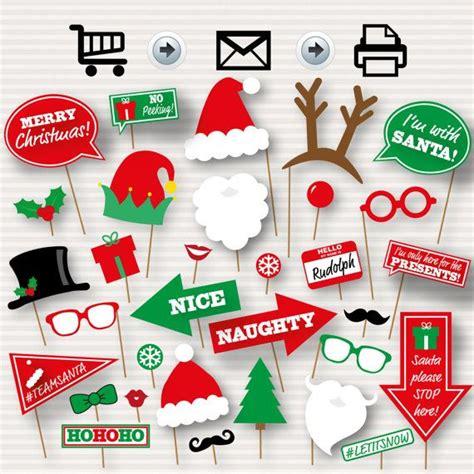 printable xmas photo props 17 mejores ideas sobre christmas photo booth en pinterest