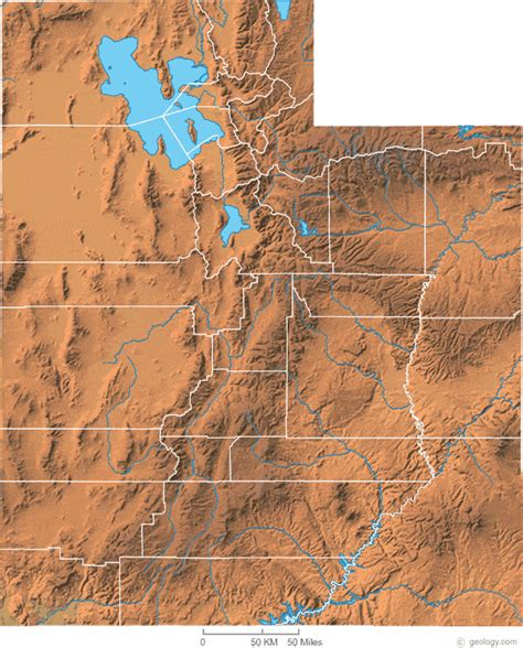 topographical map of utah utah physical map and utah topographic map