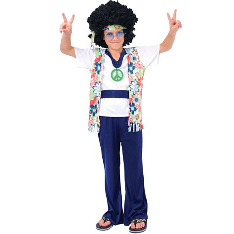 fancy dress for 70 year old childrens 60s hippie dude boys fancy dress up party