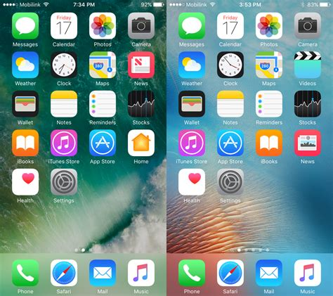 ios 9 typography ios 10 beta vs ios 9 visual comparison screenshots