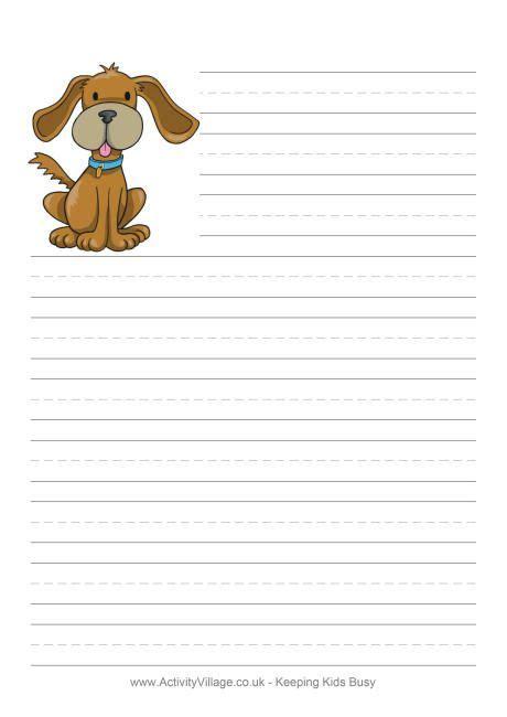 printable dog stationery 35 free animal writing paper printables writing paper