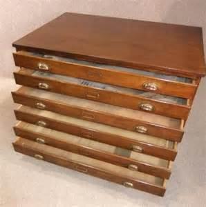 vintage plan chest map drawers antiques atlas