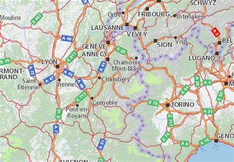 Carte détaillée Savoie   plan Savoie   ViaMichelin