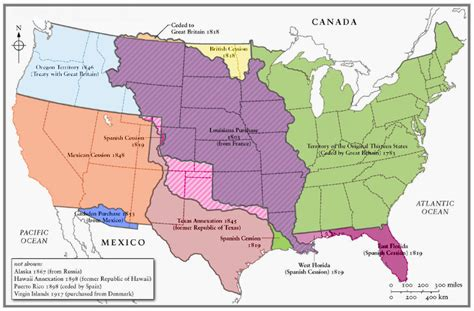 map of expansion of united states map american expansion u s a and gran colombia the