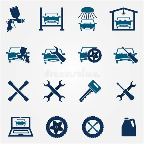 logo services auto auto service and repair flat icon set stock vector illustration of flat gasoline 48591836