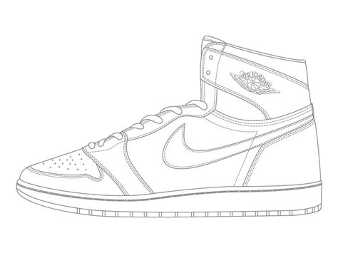 Basketball Shoe Coloring Page michael shoes coloring pages coloringsuite