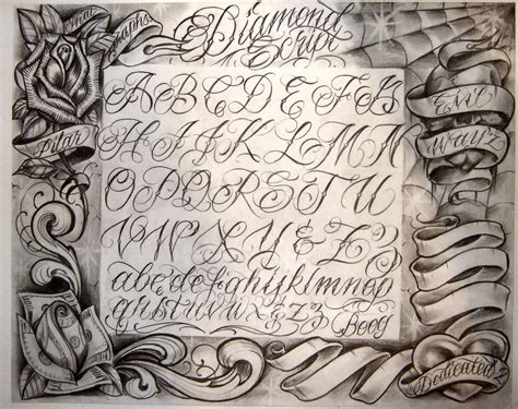 tattoo script design chicano la gangs search designs