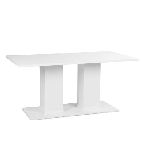 rectangular pedestal dining table country pedestal dining table rectangular in white 28084