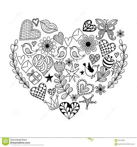 romantic mandala coloring pages hand drawn artistically ethnic ornamental patterned heart