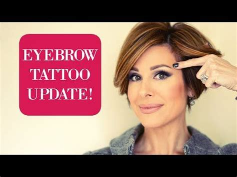 tattoo eyebrows at home eyebrow tattoo update second treatment results