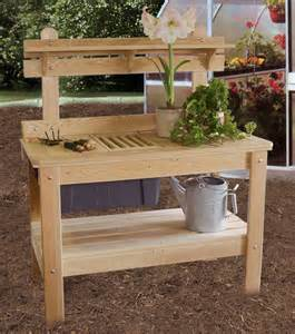 Potters Bench Plans Potting Table Ohio Hardwood Furniture
