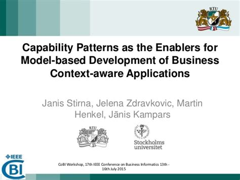 patterns of dominant business model development capability patterns as the enablers for model based