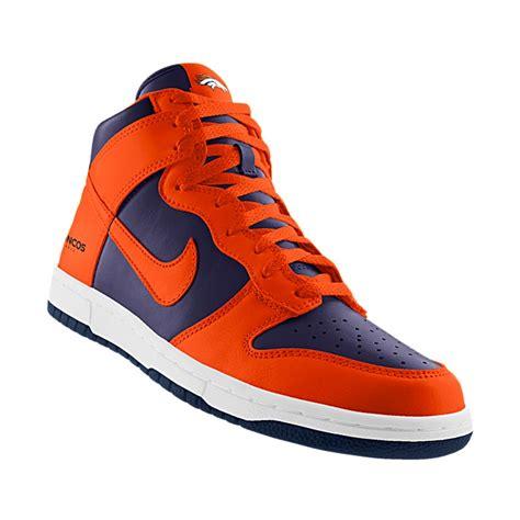 denver broncos shoes nikeid custom nike dunk high nfl denver broncos id shoe