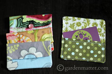 How To Make Gift Cards For Business - easy fabric card holders tutorial