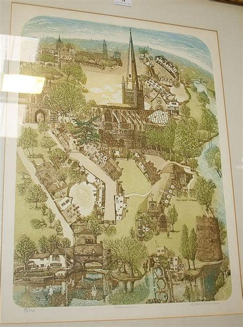 Colour Etching glynn norwich colour etching signed