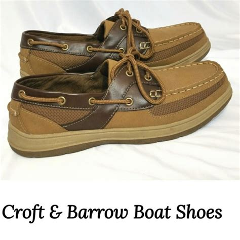 croft and barrow boat shoes 39 off croft barrow other croft barrow leather