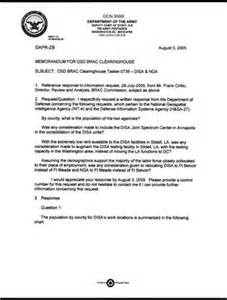 Response Letter To Government Agency Department Of Defense Clearinghouse Response Dod Clearinghouse Response To A Letter From The