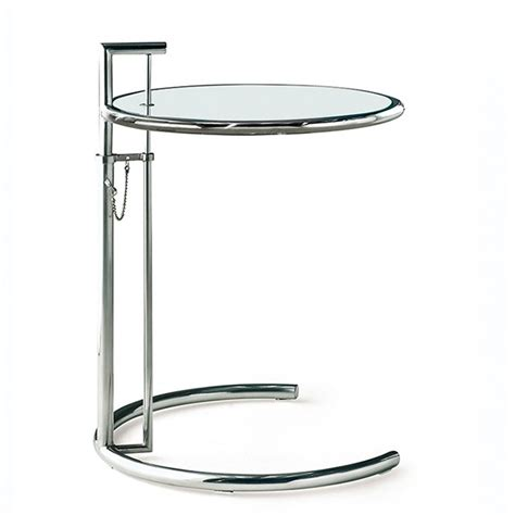 eileen gray side table e1027 chrome design side table