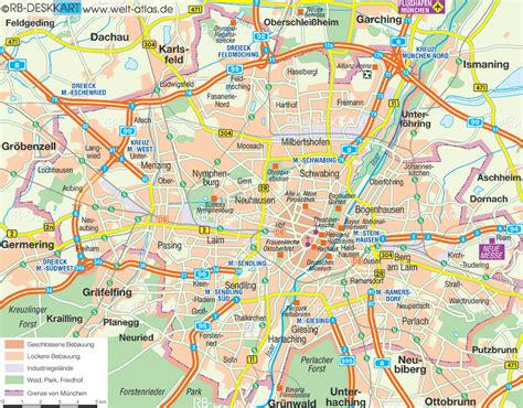 Englischer Garten München Karte Pdf by Map Of Munich City In Germany Bavaria Welt Atlas De