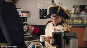 nespresso commercial actress with danny devito george clooney takes danny devito under his wing for