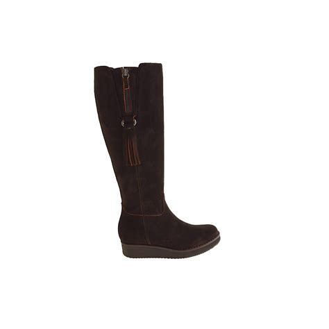 small or large boot with zipper in brown suede