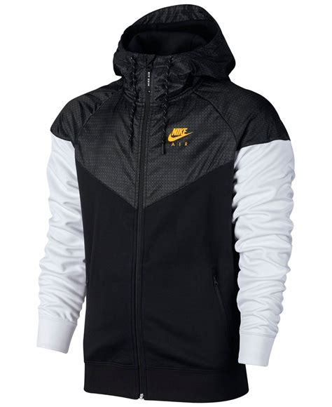 Jaket Sweater Hoodie Nike Black nike s air hybrid fleece windrunner hoodie for lyst
