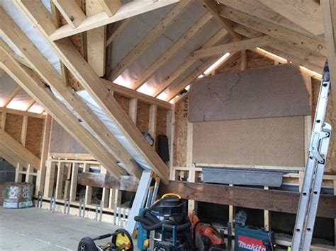 Hip Roof To Gable Conversion hip to gable loft conversion truss roofing building and joinery contractors fleetwood blackpool