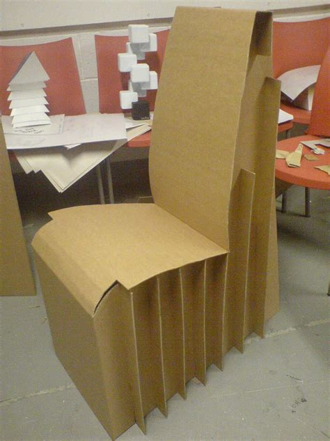 cardboard chair project by liam howard at coroflot