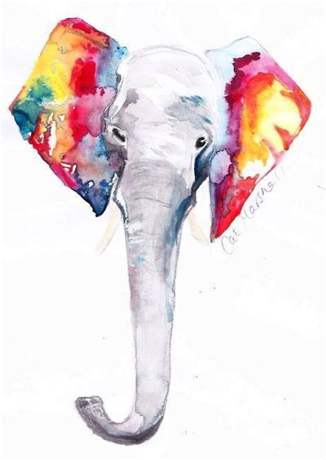 draw elephant colors watercolor colorful color artistic unlessaseyinokey