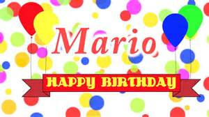 happy birthday mario happy birthday mario song