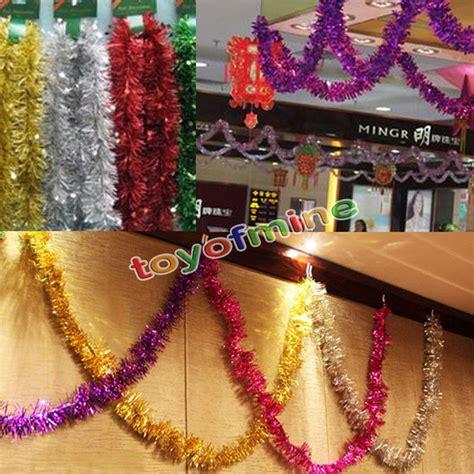 2m christmas xmas tree hanging decoration tinsel garland