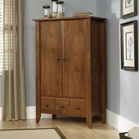 shoal creek armoire sauder shoal creek oiled oak armoire ebay