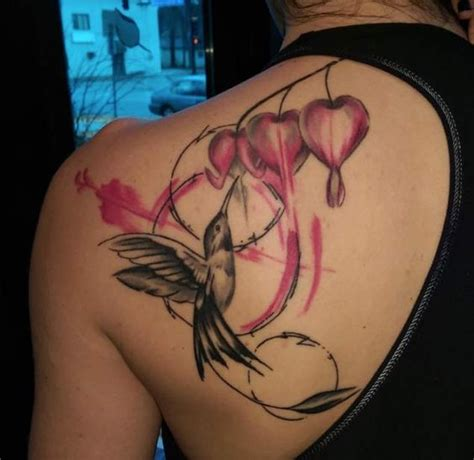 bleeding heart tattoo 48 greatest hummingbird tattoos of all time bleeding