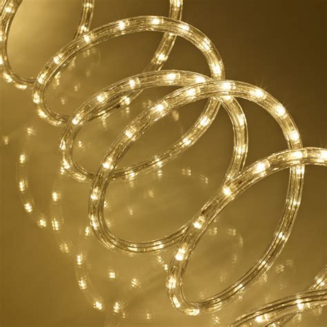 8m warm white led rope light indoor outdoor use