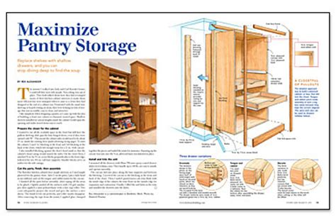 how to build a food pantry cabinet maximize pantry storage homebuilding