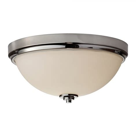 Flush Mount Bathroom Lighting Modern Classic Flush Bathroom Ceiling Light In Chrome With Opal Glass