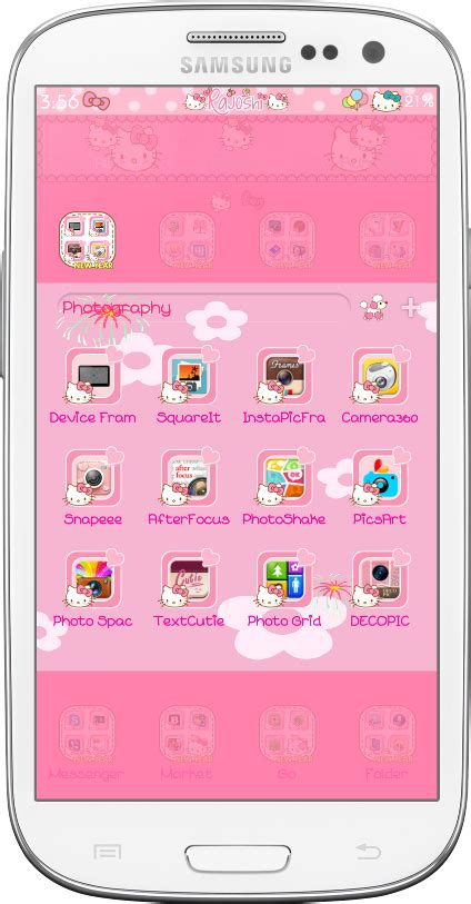 themes hello kitty samsung hello kitty winter go launcher theme android themes