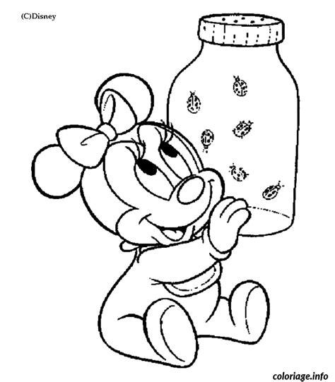 Coloriage Dessin Disney Bebe Minie Coccinelles Dessin Coloriage Magique Disney L