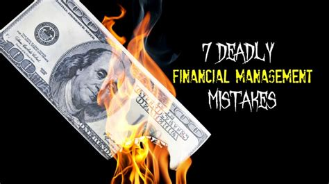 burning money for new year 7 deadly financial management mistakes infographic