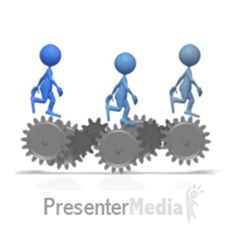 Moving Animation Teamwork Clipart Clipart Suggest Animated Gears Powerpoint